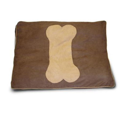 Dog Bone Chocolate Applique Deer Pet Bed