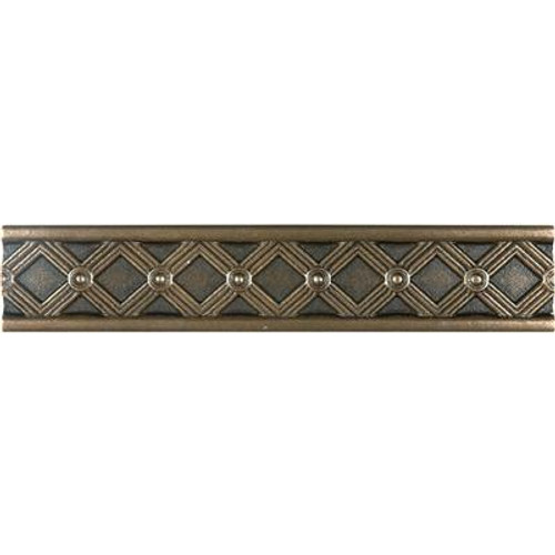 1.25 Inchx6 Inch Cast Bronze Metal Kairos Border