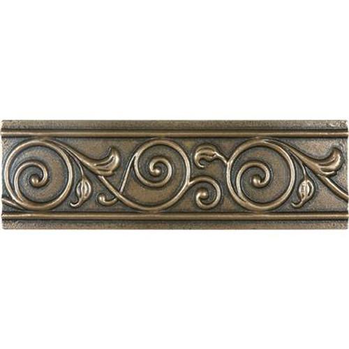 2 Inchx6 Inch Cast Bronze Metal Corbel Border