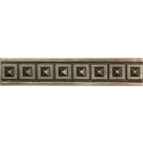 1.25 Inchx6 Inch Cast Bronze Metal Palladian Border