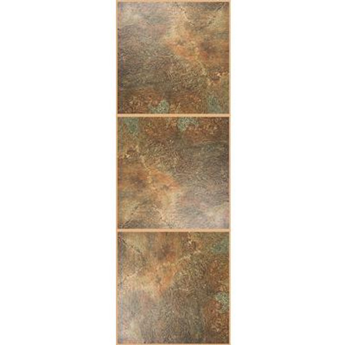 TrafficMaster Allure; Chocolate Resilient Vinyl Tile - Flooring Sample 4 Inch x 8 Inch