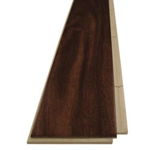 Imperial Walnut (Acacia) - Select Grade Prefinished UNICLIC Engineered Hardwood Flooring Sample - 3.5 Inch x 4 Inch
