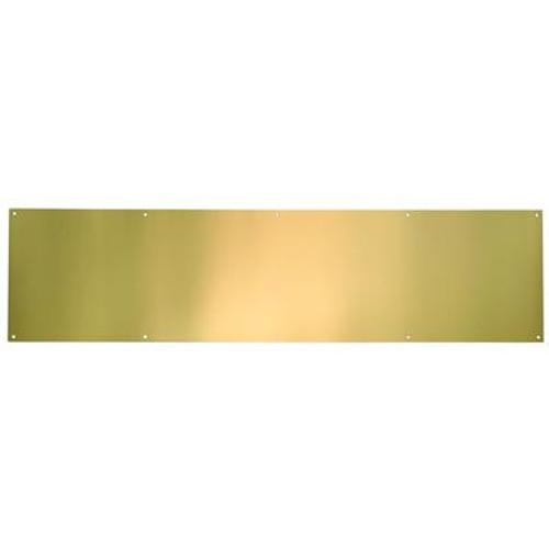 Polished Brass Anti Tarnish Kickplate - 6 in x 30 in