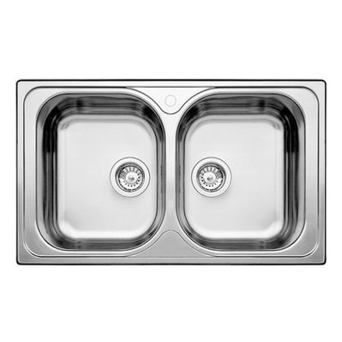 2 Bowl Topmount Stainless Steel Kitchen Sink