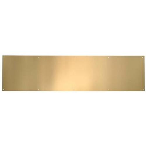 Polished Brass Anti Tarnish Kickplate - 8 in x 34 in