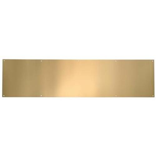 Polished Brass Anti Tarnish Kickplate - 6 in x 32 in