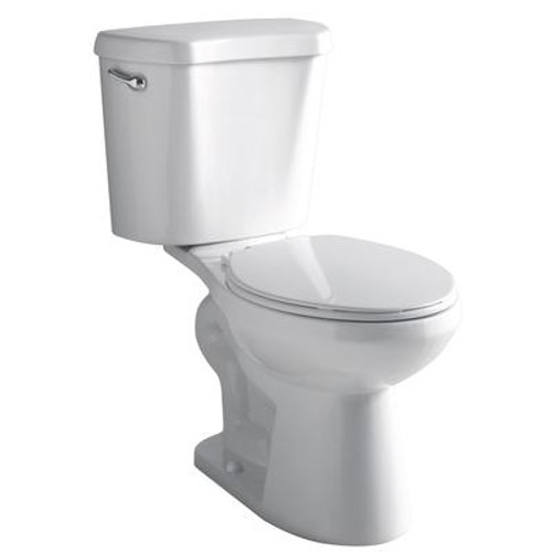 4.8 LPF Round Front Het Two piece All-In-One 1.27 Gal. Elongated Toilet In White