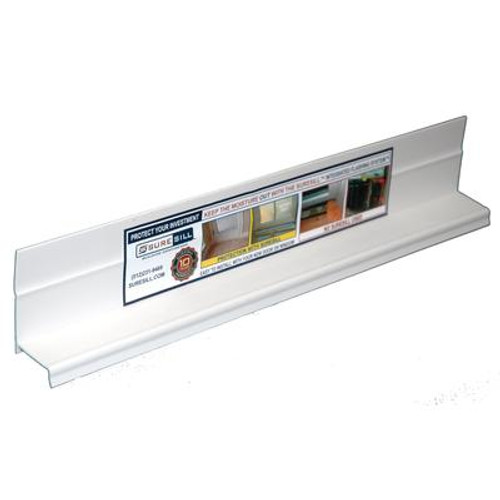 1-3/8 Inch x 84 Inch White PVC Sloped Head Flashing for Door and Window Installation and Flashing (20-Pack)