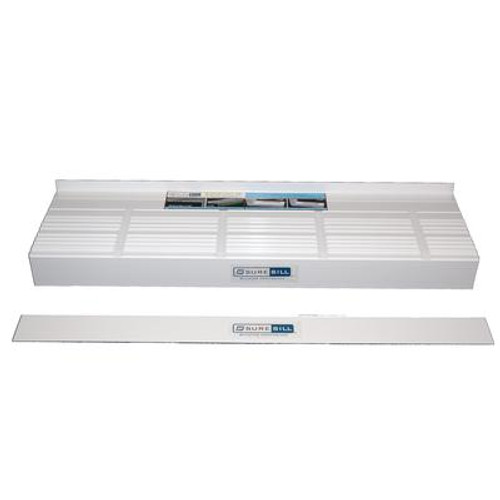 10X Adjustable Width x 78 Inch  White PVC Sloped Sill Pans  (10-Pack)