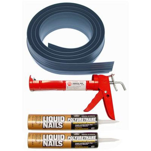 16 ft. Gray Garage Door Threshold Kit
