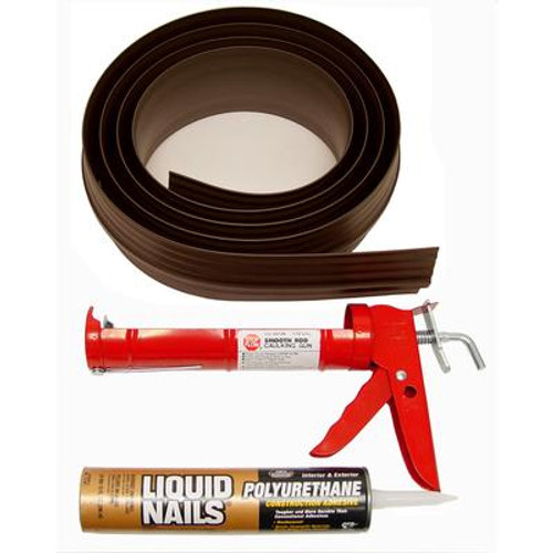 10 ft. Brown Garage Door Threshold Kit