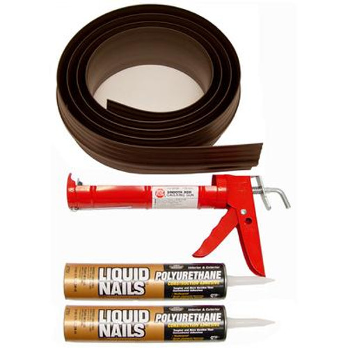 16 ft. BrownGarage Door Threshold Kit