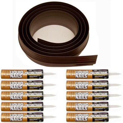 100 ft. Brown Garage Door Threshold Kit