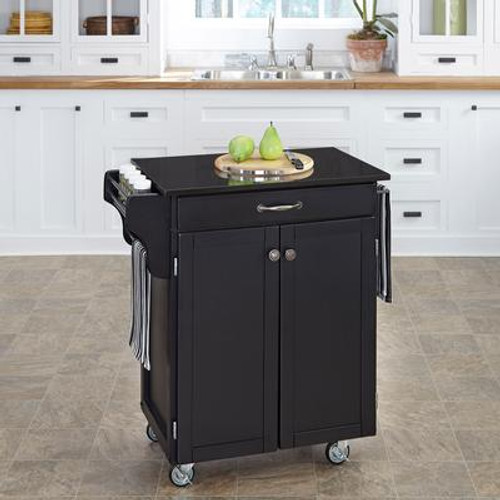 Black Create A Cart With Black Granite Top
