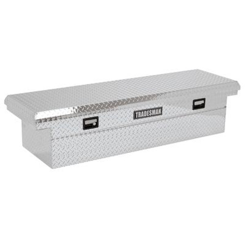 70  inch Cross Bed Tool Box; Full Size; Single Lid; Aluminum; Low Profile