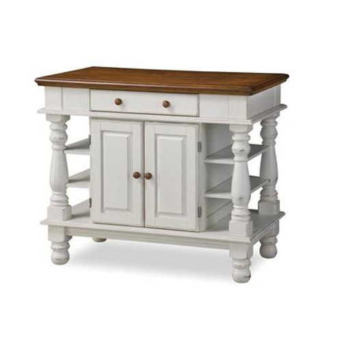 Americana Kitchen Island - White