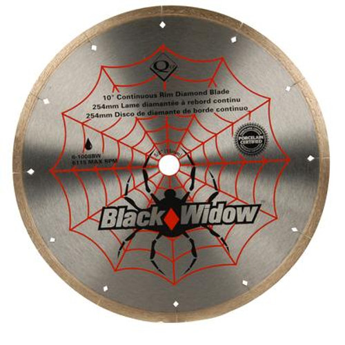 10 Inch Porcelain; Ceramic; Marble and Granite Wet Cutting Black Widow Diamond Blade