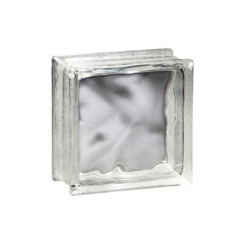 8 Inch X 8 Inch X 3 Inch DECORA THINLINE Pattern GLASS BLOCK; case of 10