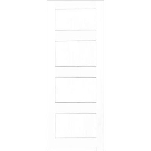 24X80 A Zen Designed 4 Panel Shaker Door Primed