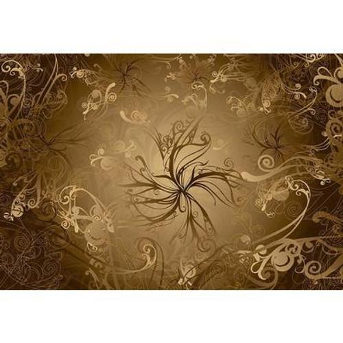 12 Feet 1 Inches x 8 Feet 4 Inches Gold Wall Mural