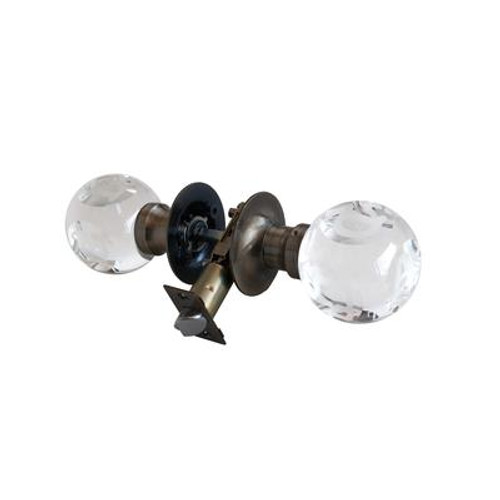 ABC Clear Antique Brass Passive LED Door Knob