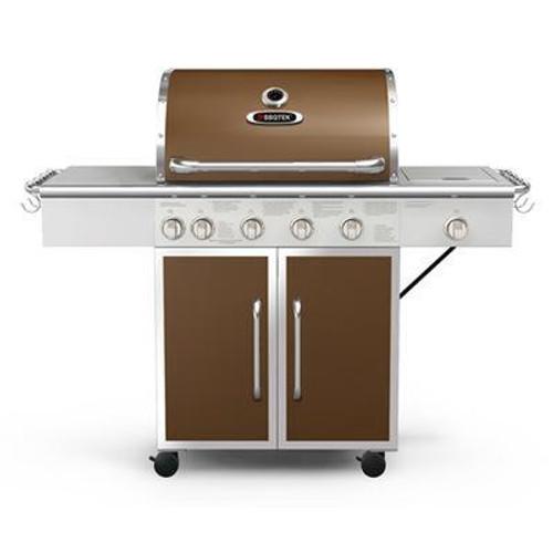 75;000 BTU Six Burner LP Gas Grill with Rotisserie; Searing & Side Burner