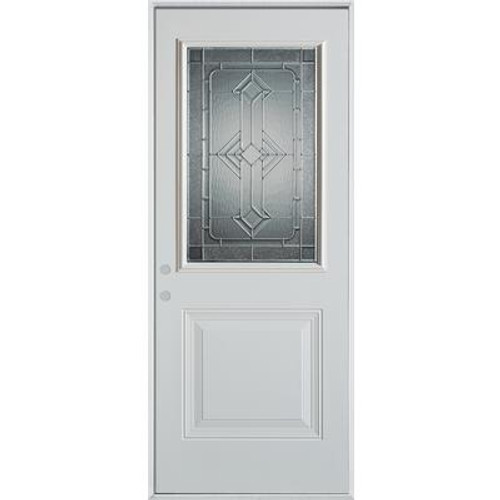 1/2 Lite 1-Panel Painted Steel Entry Door