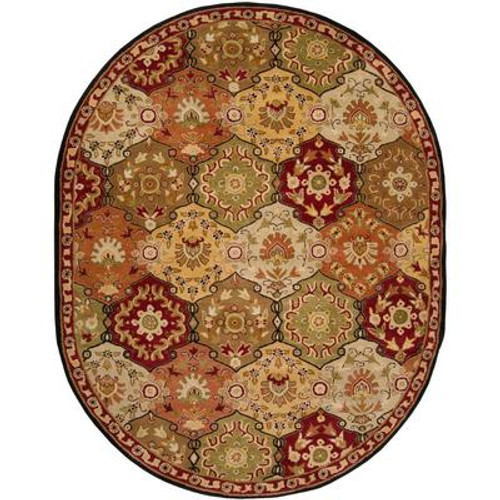 Abbaretz Red Wool Oval  - 6 Ft. x 9 Ft. Area Rug