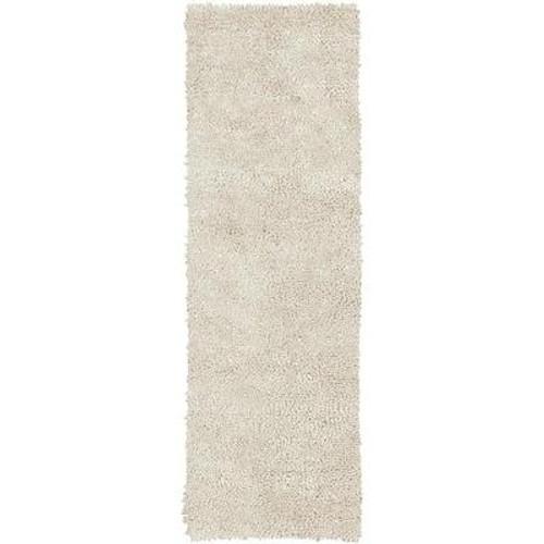 Adelanto Ivory New Zealand Felted Wool 4 Ft. x 10 Ft. Runner