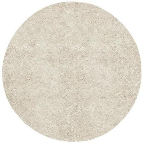 Adelanto Ivory New Zealand Felted Wool 8 Ft. Round Area Rug