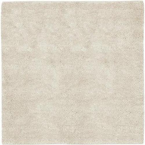 Adelanto Ivory New Zealand Felted Wool 8 Ft. Square Area Rug