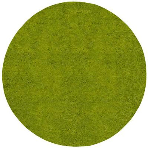 Agoura Lime Green New Zealand Felted Wool 10 Ft. Round Area Rug