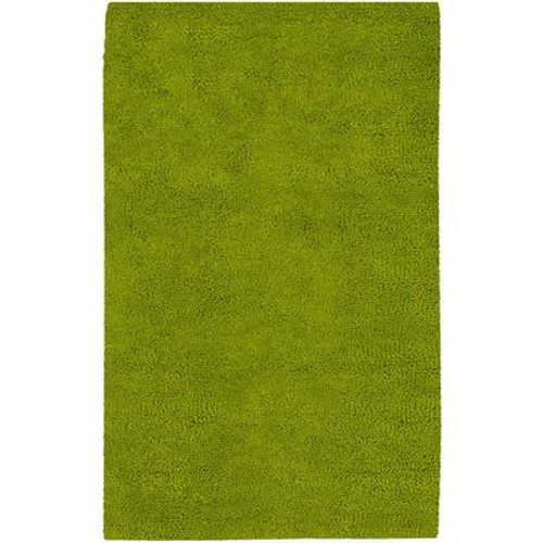 Agoura Lime Green New Zealand Felted Wool 2 Ft. x 3 Ft. Accent Rug