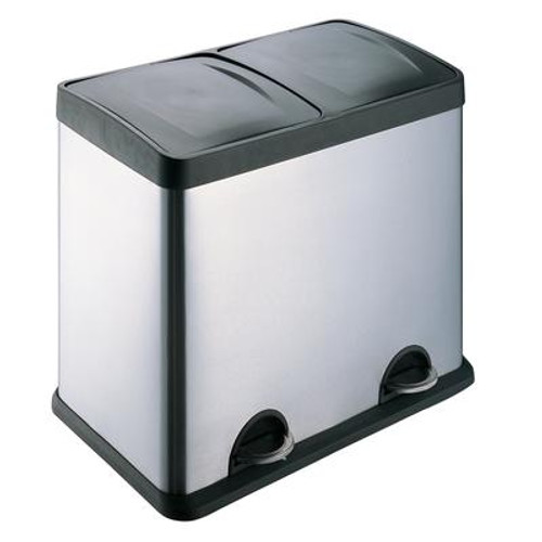 2-Compartment Waste/ Recycling Bin 30L