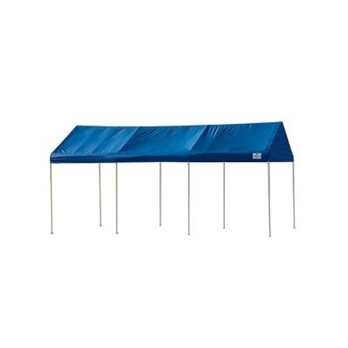 Celebration II 10 x 20 Decorative Canopy; 1-3/8 Inch 8 Leg Frame; Blue Polyester Cover