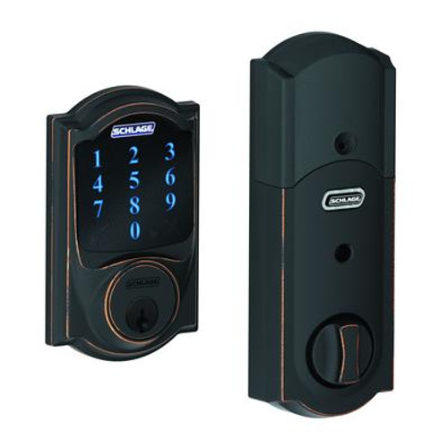 Aged Bronze Touchscreen Deadbolt Camelot