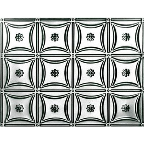 18.5 Inches x 48.5 Inches Stainless Steel Nail-Up Ceiling Tile Design Repeat Every 6 Inches