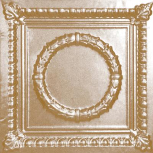 2 Feet x 2 Feet Brass Plated Steel Lay-In Ceiling Tile Design Repeat design Every 24 Inches