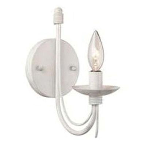1 Light Wall Antique White Incandescent Wall Sconce