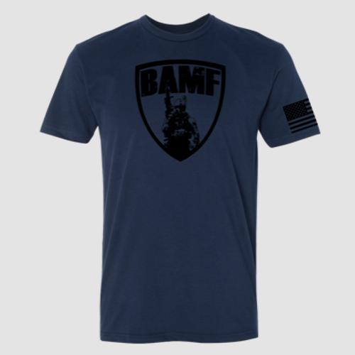 BAMF logo shirt (Blue/Black)