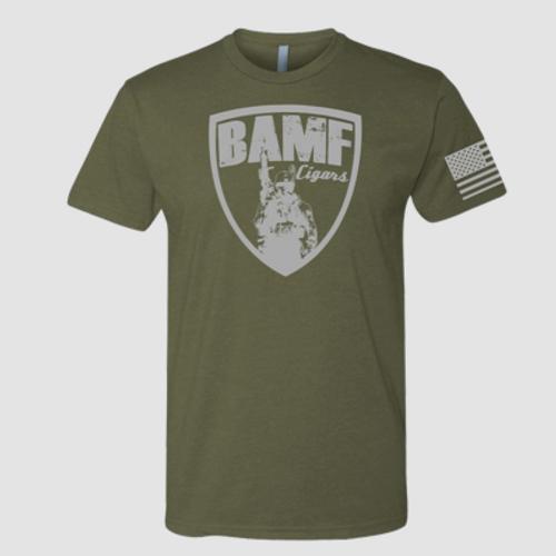 BAMF logo shirt (OD Green/Gray)
