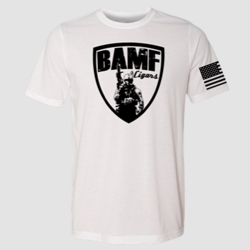 BAMF logo shirt (White/Black)
