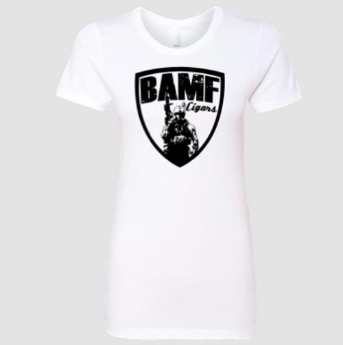 Womens BAMF logo (White/Black)