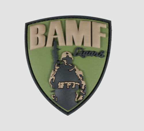 BAMF PATCH- PVC (3D RUBBER) SOLD OUT, ON BACK ORDER
