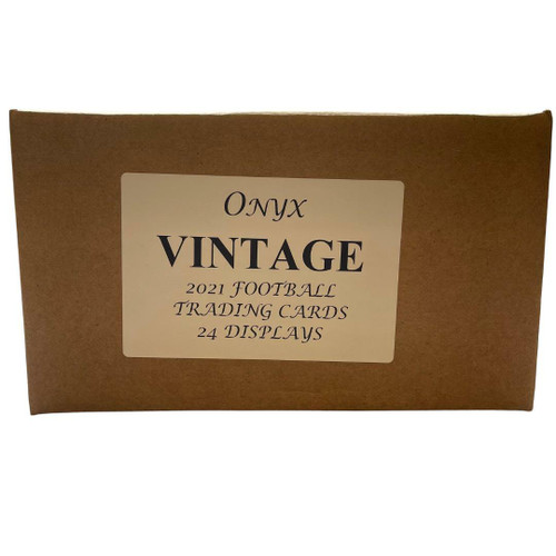 2021 Onyx Vintage Collection Football 24 Box Case