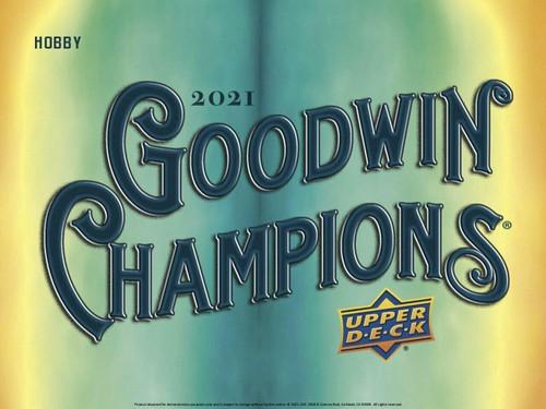 2021 Upper Deck Goodwin Champions Hobby 16 Box Case