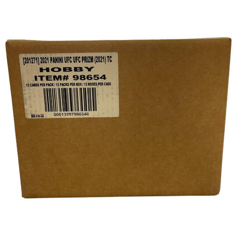 2021 Panini UFC Prizm Trading Cards Hobby 12 Box Case