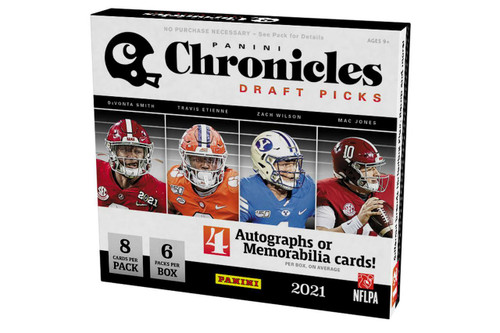2021 Panini Chronicles Draft Picks Collegiate Football Hobby Box