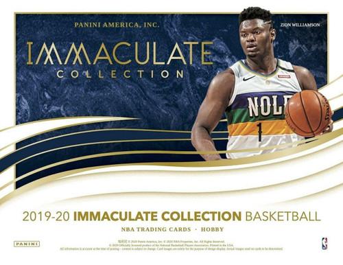 2019/20 Panini Immaculate Basketball Hobby 5 Box Case