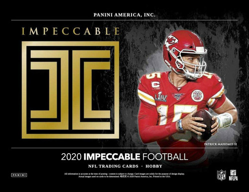 2020 Panini Impeccable Football Hobby 3 Box Case